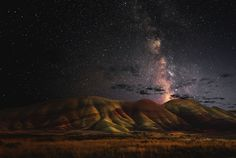Painted Hill and stars Photo by John Qu -- National Geographic Your Shot