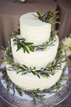 Olive and Lavender Cake - Art with Nature Floral Design and Katelin Wallace Photography