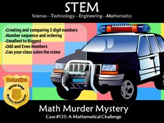 This murder mystery will engage students by taking them on a journey to solve math puzzles to solve a murder. Students will need to gather evidence by comp. Number Sequence, Math Stem, Math Challenge, Hundreds Chart, Maths Puzzles, Student Engagement, Sorting, Mathematics, Teaching Resources