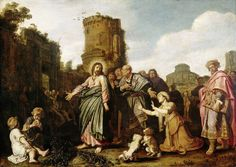 Pieter Lastman - Christ and the Canaanite Woman.