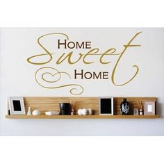 "Design With Vinyl Home Sweet Home Wall Decal Color: Brown, Size: 16"" H x 20"" W x 0.16"" D"
