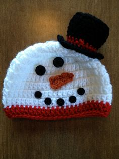 Frosty The Snowman Crochet Hat on Etsy, $25.00