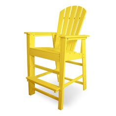 POLYWOOD South Beach Outdoor Adirondack Bar Chair available at Vermont Woods Studios