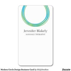 Modern Circle Design Business Card #zazzle #zazzlebusinesscards #circles #energy