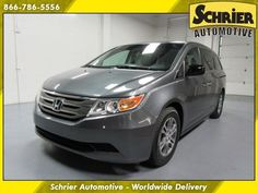 Car brand auctioned:Honda Odyssey EX-L | Rear DVD, Back Up Cam, Bluetooth 12 Car model honda odyssey gray leather fwd 8 passenger 3.5 l 6 cyl power lift gate doors
