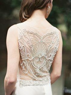 Dress Detail | Manor House Wedding Inspiration