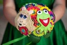 Muppet bouquet! Technicolor Muppet madness at this Austin wedding