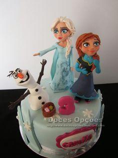 Doces Opções: Bolo de aniversário Frozen, o reino do gelo