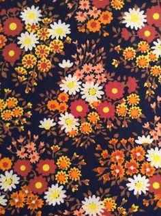 Scandinavian fabric vintage mod fabric by Inspiria Retro Fabric, Vintage Fabrics, Vintage Prints, Flora Pattern, Retro Pattern, Textile Design, Fabric Design, Scandinavian Fabric, Folk Print