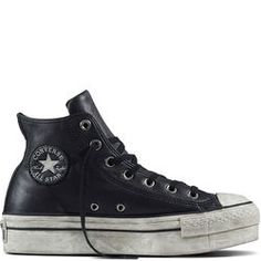 All Star Platform Distressed Leather - CONVERSE