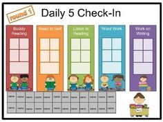 FREE - Editable daily 5 check-in for your smartboard or mimio Daily 5 Reading, 4th Grade Reading, Guided Reading, Reading Groups, Reading Centers, Reading Strategies, Daily 5 Kindergarten, Daily 5 Math, Daily 3