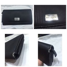 Bvlgari long Wallet Authentic Bvlgari long wallet 6 card slots and 4 more card slots in the front . Visible wear and tear on outer edges . Still good for use . Y01601 ku Bvlgari Bags Wallets