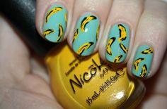 idea of banana nail art