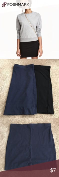 H&M Skirt Bundle Black and blue stretch skirts. Great condition, price is for the bundle / set of both skirts. H&M Skirts Mini