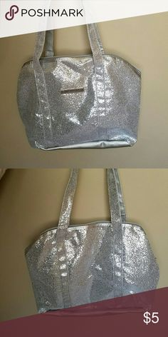 Silver sparkly purse brand new, never used beauty control   Bags