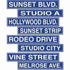Hollywood Sign Cutouts Party Accessory - ideas to paint signs with wood pieces for J's room