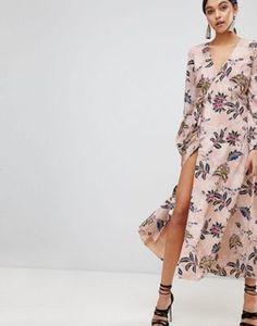 Платье миди с запахом The Jetset Diaries