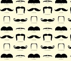 Moustache fabric. LOL
