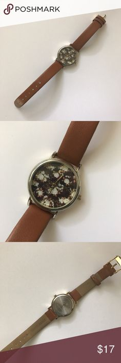 Submit ANY Offer!!Brown Floral Watch Has some wear but overall Great Condition! -Battery does not work Accessories Watches