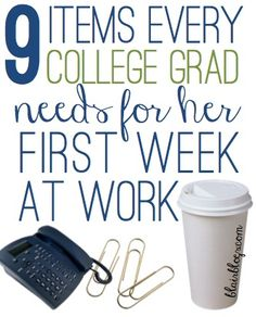 There's a lot you need for your first week at work that you wouldn't necessarily think of! This is a great, thorough list for your first week in the real world!