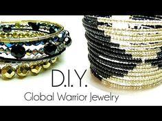 Tutoriel - D.I.Y. : Global Warrior Jewelry - Fil à mémoire de forme. memory wire cuff bracelet
