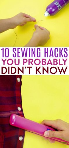 Whether you are a sewing pro or just a beginner sewing it is  always helpful to have some sewing tips. These 10 Sewing Hacks You Probably  Didn't Know will surely help you in your projects from beginner sewing projects  to the more advanced ones. #sewing  #sewingideas #sewingprojects #easysewingideas #sewingprojectsforbeginners  #sewingforbeginners #sewingprojectsforteens #easysewingideas Diy Sewing Projects, Sewing Hacks, Sewing Tutorials, Sewing Crafts, Sewing Tips, Sewing Stitches, Sewing Patterns, Smocking Patterns, Diy For Teens