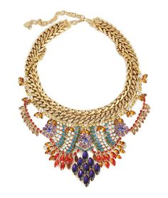 Cleo Necklace from Dannijo. Inspired by the colorful and intricate jewels of India, the Cleo is the perfect touch of statement for your upcoming affair.