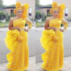 African Lace Designs Dresses : Cutest Aso Ebi Styles For Wedding Guests to Flaunt. African Lace fabrics have a method for making any African print wear more lovely. Every single African dress with trim will consistently stand apart regardless African Lace Styles, African Lace Dresses, African Fashion Dresses, Prom Dresses Long With Sleeves, Lace Evening Dresses, Church Dresses, Lace Styles For Wedding, Nigerian Outfits, Lace Dress Styles