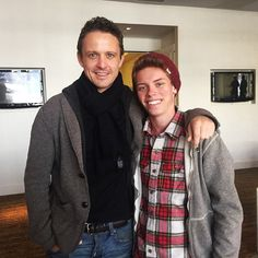 """From Caleb Bendit who plays Young Darryl on Game of Silence. """"Had a nice chat with David Lyons today about our new show #GameOfSilence! Great guy!"""""""