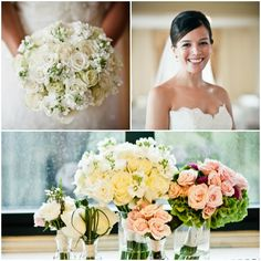 Pastel Wedding Flowers with a Pop of Color - mazelmoments.com