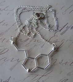 Biolojewelry  Serotonin Necklace by BiolojewelryandSuch on Etsy, $15.00