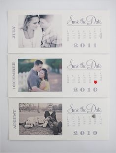 I LOVE these save the dates! The red heart stamp is my favorite!