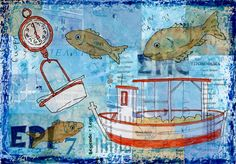 Weighing the Catch by Gill Tomlinson - original art inspired by Greece & the Mediterranean