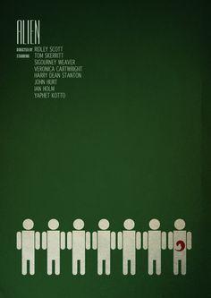 Alien Movie - Minimalist Poster