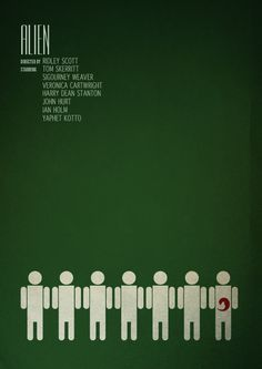 Alien movie poster tribute by sammarkiewicz in Minimalist Movie Posters.  Part 2 Alien Movie Poster 4426da66d073