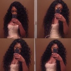 Long deep wave hair weave