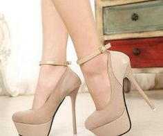 Nude color high heels  Shoes! Shoes! Shoes!  Pinterest  High