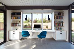 A Midcentury Eichler in San Mateo Is Turned Into a Functional Family Home - Dwell #eichler #sanmateo #california #office