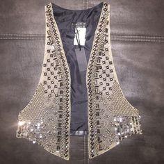 Vest Sequin/Studded leather vest Other