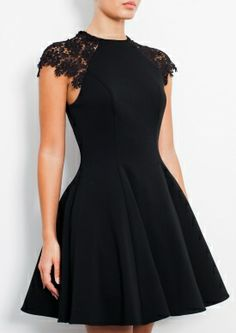 Prom Dress For Teens, 2019 Homecoming Dresses Black Scoop Short/Mini Cap Sleeves, cheap prom dresses, beautiful dresses for prom. Best prom gowns online to make you the spotlight for special occasions. Short Lace Dress, Short Dresses, Formal Dresses, Mini Dresses, Dress Lace, Tulle Lace, Petite Party Dresses, Cheap Dresses, Wedding Dresses