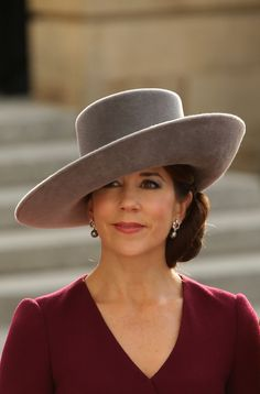that's a nice lookin' hat right there.  Princess Mary of Denmark
