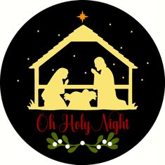 Oh Holy Night Doorhanger Door hanger -Reusable Mylar Stencil, Christmas Sign Stencils Christmas Horses, Plaid Christmas, Christmas Signs, Vintage Red Truck, Sign Stencils, Christmas Ornament Sets, Holy Night, Diy Signs, Bible Scriptures