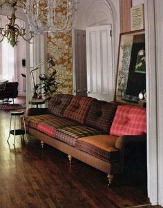 différentes couleurs! Coussins, rideaux, bancs pour notre van!