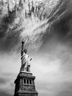 I don't think I've ever seen Lady Liberty in black & white! Nice!    Happy Independence Day