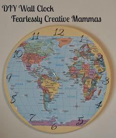 DIY Wall Clock - Fearlessly Creative Mammas