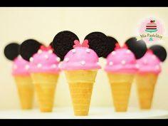 CAKE POPS EN FORMA DE NIEVE/HELADO | MINNIE MOUSE | MIS PASTELITOS KIDS - YouTube