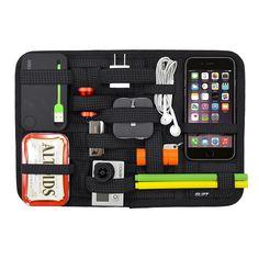 Navor Portable Travel Elastic Storage Plate Elastic Retention & Organizer Board-Black