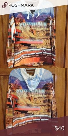 Grand Canyon Sweatshirt Light sweatshirt. Shows the beatific view of the Grand Canyon West Skywalk! Rich in color and extremely comfortable! Passion-I Sweaters