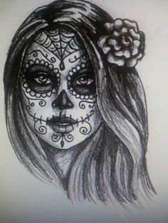 I hope to be my new tattoo! Day of the dead girl