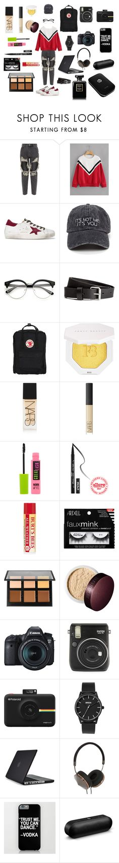 """""""Photography B**ch.."""" by voodoodoll-666 on Polyvore featuring Golden Goose, Fjällräven, Puma, NARS Cosmetics, Maybelline, Kat Von D, Ardell, Anastasia Beverly Hills, Laura Mercier and Eos"""